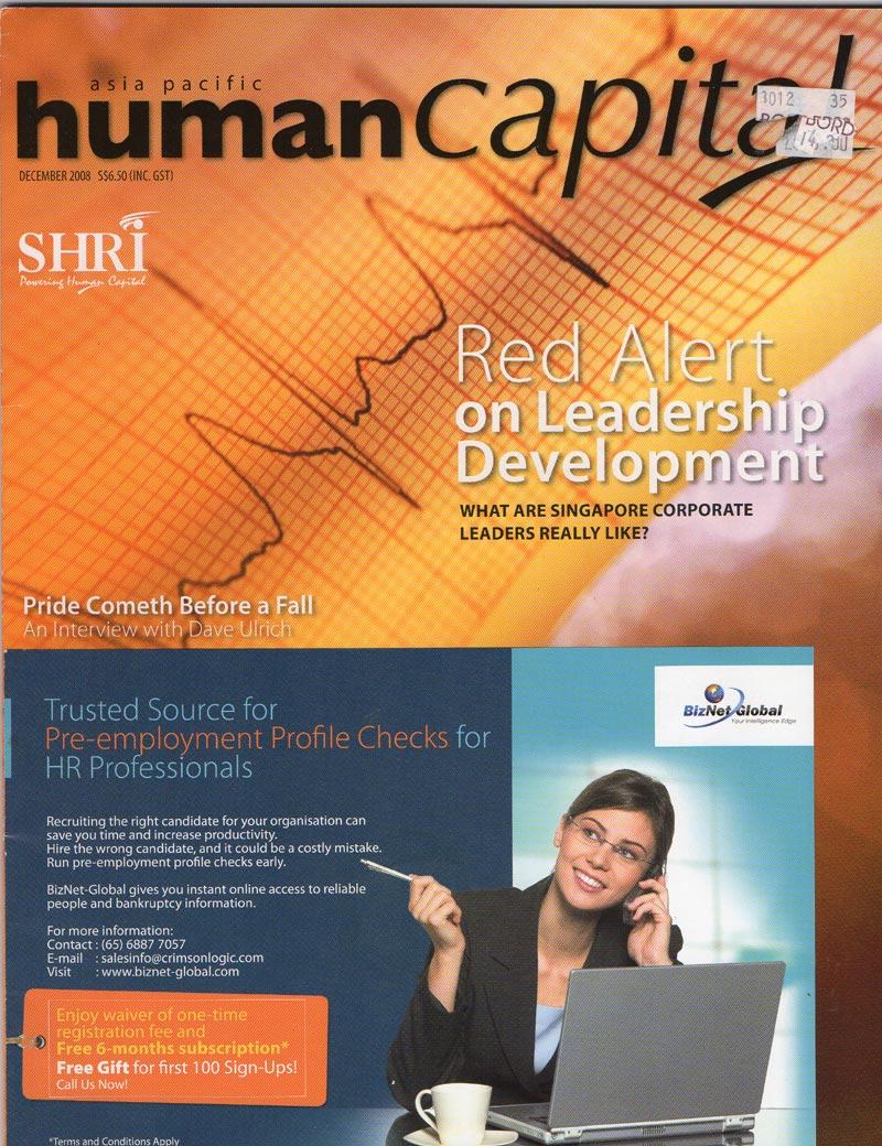 Human Capital Magazine - dec 2008